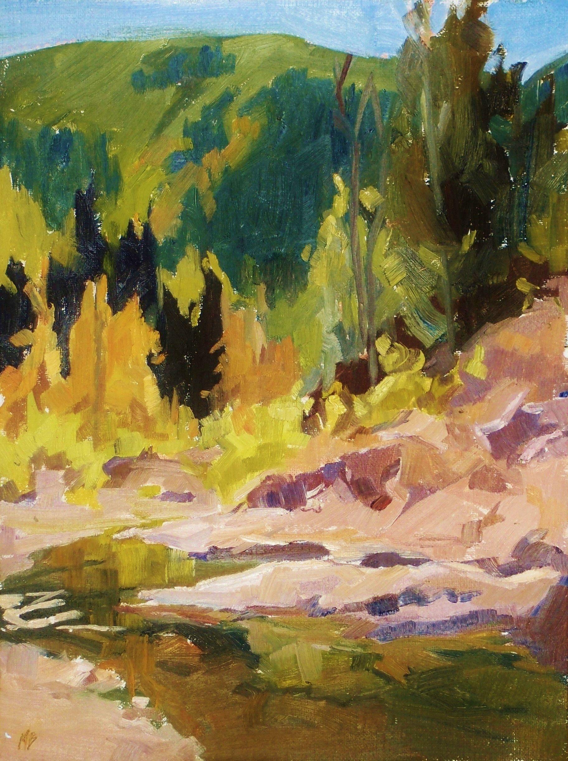 Liquid Calm, Painting, Oil on MDF Panel
