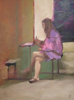 Seated figure, Murray Avenue, Painting, Oil on Canvas