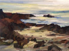 White sands off of PCH, Painting, Oil on Canvas