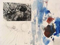 Seal Encounter Herring Cove Beach, Mixed Media on Watercolor Paper