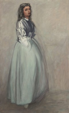 Fumette Standing, after a James Whistler Etching, Painting, Oil on Canvas