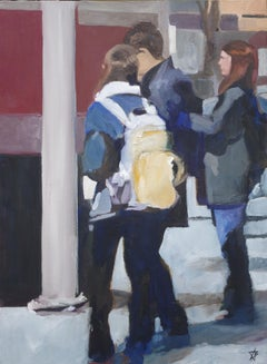 3 Students, 5th at Meyran, Painting, Oil on Canvas