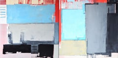 """Dyptych """"Abstract 77"""", Painting, Oil on Canvas"""