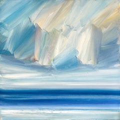 Over calm waters, Painting, Oil on Canvas