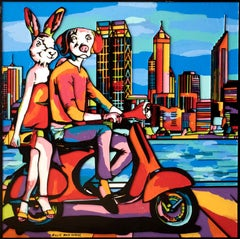 Pop Art - Painting Print - Gillie and Marc - Limited Edition - City driving-2019