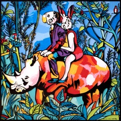 Pop Art - Painting Print - Gillie and Marc - Limited Edition -Love in the jungle