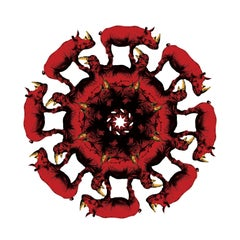 Painting Print - Gillie and Marc - Limited Edition - Art - Circle of life, red