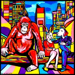 Pop Art - Painting Print - Gillie and Marc - Limited Edition - Chimp in the city