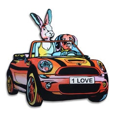 Pop Art - Painting Print - Gillie and Marc - Limited Edition -'One Love' drivers