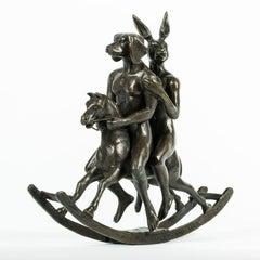 Bronze Sculpture - Art - Gillie and Marc- Dogman & Rabbitwoman- Nude- Horse-Mini