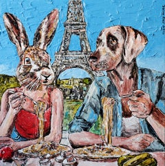 Painting Print - Gillie and Marc - Limited Edition - Art - Always eating pasta
