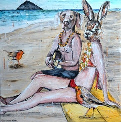 Painting Print - Gillie and Marc - Limited Edition - Art-Serenading on the beach