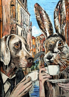 Painting Print - Gillie and Marc - Limited Edition - Art - A quiet coffee date