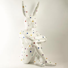 Pop Art - Sculpture - Art - Fibreglass - Gillie and Marc - Rabbitwoman- White