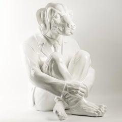 Pop Art - Sculpture - Art - Fibreglass - Gillie and Marc - Dogman - White - 2019