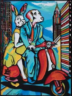 Pop Art - Painting Print - Gillie and Marc - Limited Edition - Marry me in NYC