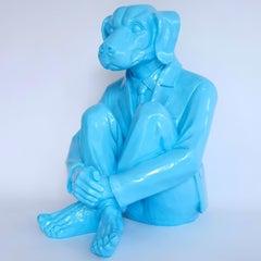 Pop Art - Sculpture - Art - Fibreglass - Gillie and Marc - Dogman - Blue - 2019