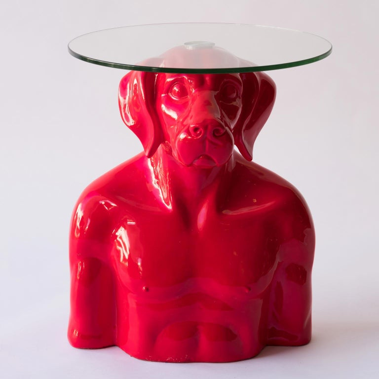 Title: He had a head for good things, in red Authentic fibreglass sculpture  World Famous Contemporary Artists: Husband and wife team, Gillie and Marc, are New York and Sydney-based contemporary artists who collaborate to create artworks as one.