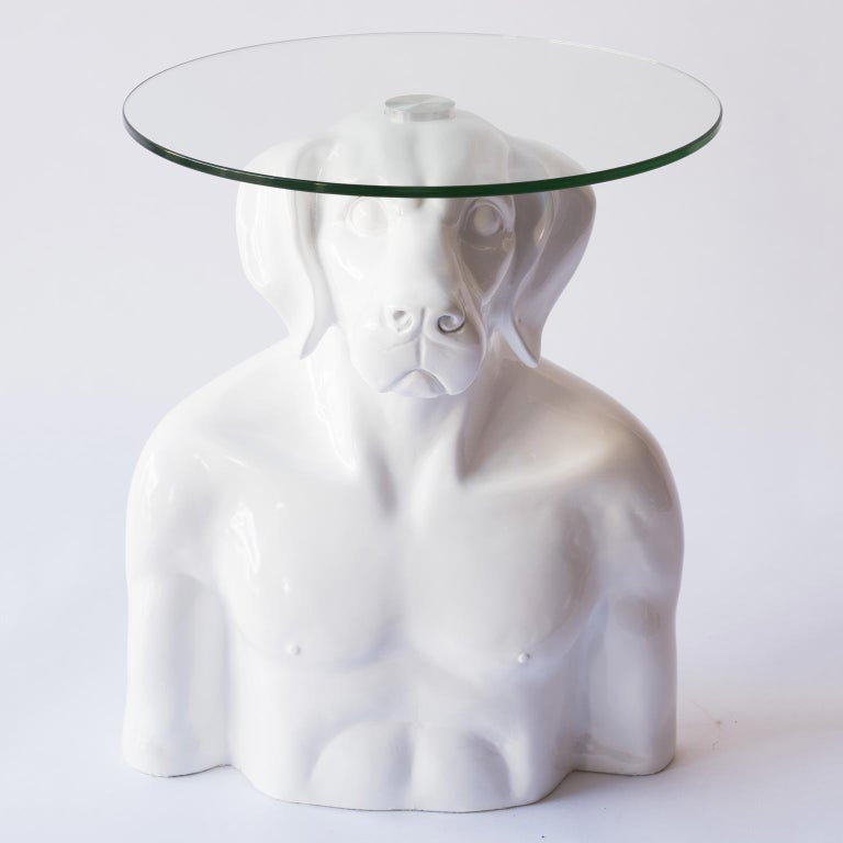 Title: He had a head for good things Authentic fibreglass sculpture  World Famous Contemporary Artists: Husband and wife team, Gillie and Marc, are New York and Sydney-based contemporary artists who collaborate to create artworks as one. Gillie and