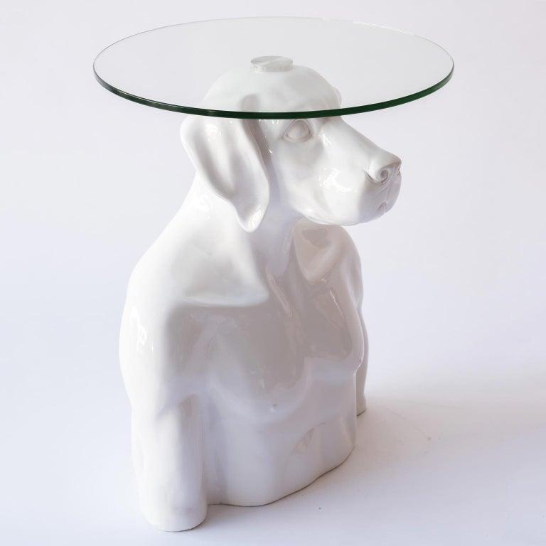 Pop Art - Sculpture - Art - Fibreglass - Gillie and Marc - Dogman - Nude - Table 1