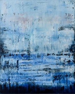 Blue abstract painting PD147, Painting, Acrylic on Canvas