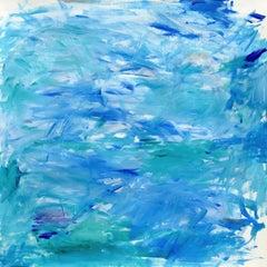 Light Rain / Aquamarine, Painting, Acrylic on Paper