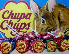 Rabbit, Painting, Oil on Canvas