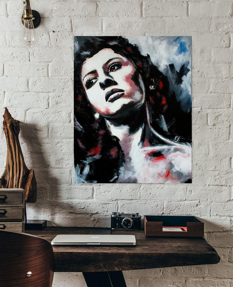 Damiana, Painting, Acrylic on Canvas For Sale 2