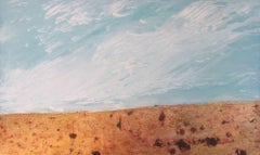 Soft Under the Sky #2, Mixed Media on Wood Panel