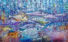 Ocean dwellers   '1', Painting, Acrylic on Canvas