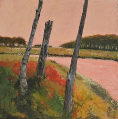 Maine Marshland, Painting, Oil on Canvas