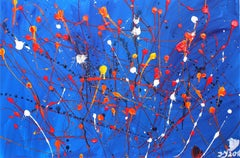Summer Nights Rhythm, Painting, Acrylic on Canvas