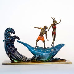Bronze Sculpture - Art - Bondi Whale - Limited Edition - Wave Riders