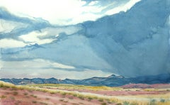 Summer Storm Near Abiquiu, Painting, Watercolor on Watercolor Paper