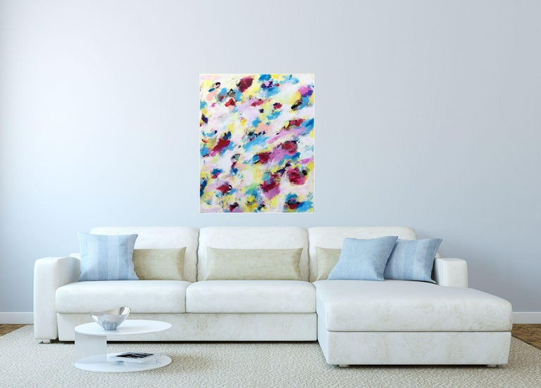 No Sweeter than Spring, Painting, Acrylic on Canvas For Sale 1