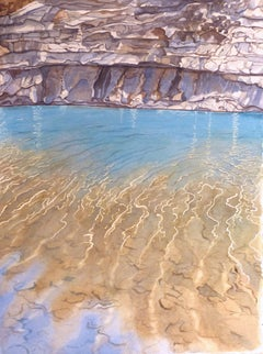 Along the California Coast, Painting, Watercolor on Watercolor Paper