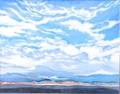Early Evening In New Mexico, Painting, Watercolor on Watercolor Paper
