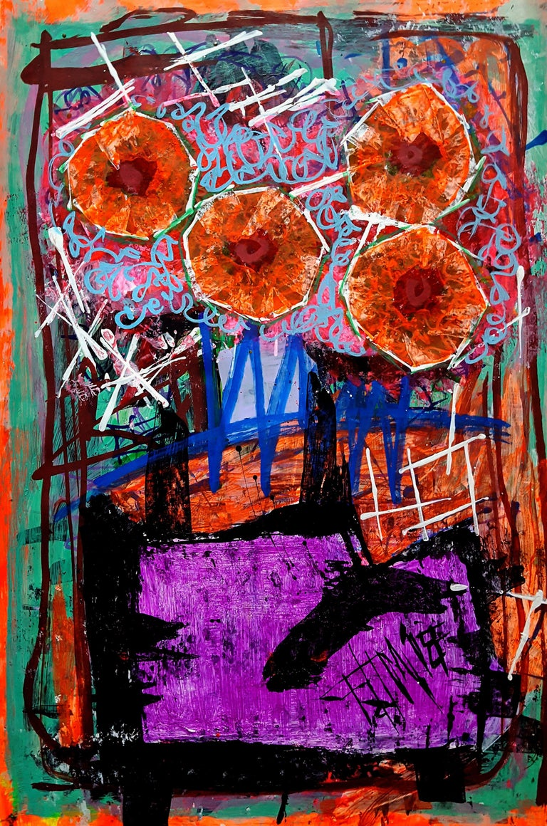 Franck  De Las Mercedes  Abstract Painting - DLM Nature, Painting, Acrylic on Paper