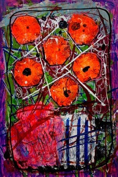 Spiritual Vibration, Painting, Acrylic on Paper