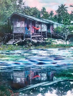 The Red Hammock, Painting, Oil on Canvas