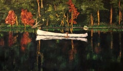THE WHITE CANOE, Painting, Oil on Canvas