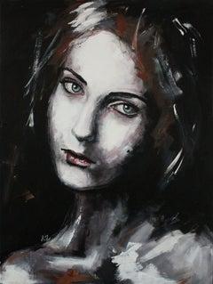 Adeline (PORTRAIT SERIES #5), Painting, Acrylic on Canvas