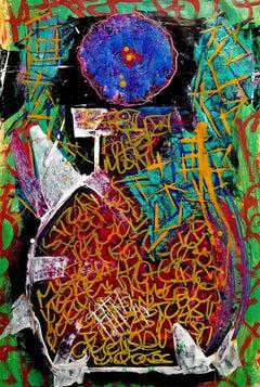 Vase Tu, Painting, Acrylic on Paper