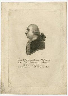 Christoph Ludwig Hoffmann by Verhelst - Stipple engraving - 18th Century
