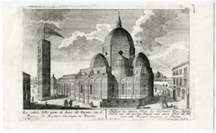 A view of Piazza del Duomo in Florence by Engelbrecht - Engraving - 18th Century