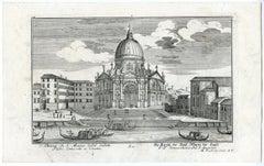 Santa Maria della Salute in Venice by Engelbrecht - Engraving - 18th Century