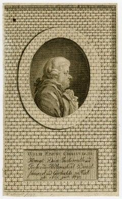 Portrait of Wilhelm Ernst Christiani by Arndt - Engraving - 18th Century