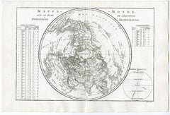 Map of the Northern Hemisphere by Bonne - Engraving - 18th Century