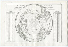 Map of the Southern Hemisphere by Bonne - Engraving - 18th Century
