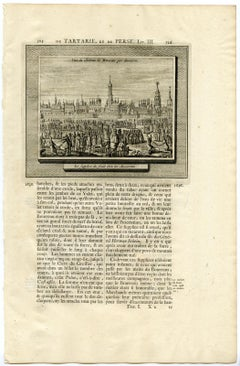 Moscow citadel - Grand Duchy of Muscovy by Mandelslo - Engraving - 18th Century